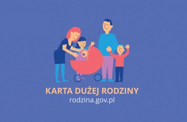 plakat karta dużej rodziny